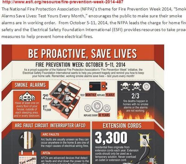 ESFI_Fire_Prevention_Week_2014